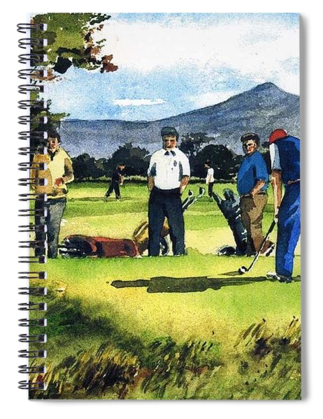 F 763  Fourball In Bray Spiral Notebook