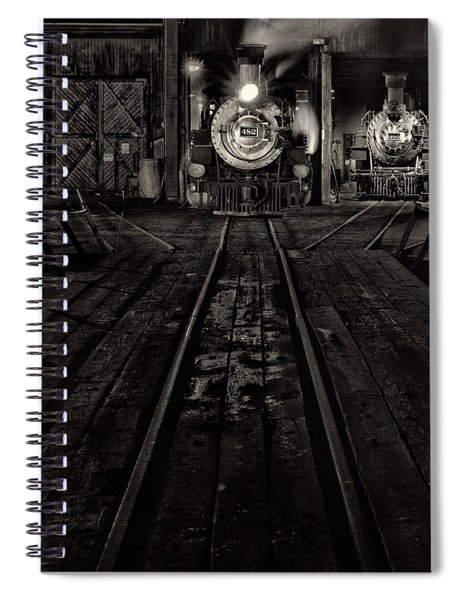 Foureightytwo B And W Version Spiral Notebook