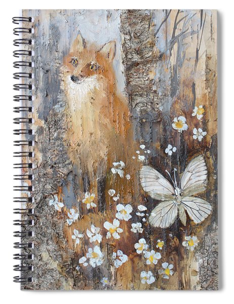 Fox And Butterfly Spiral Notebook