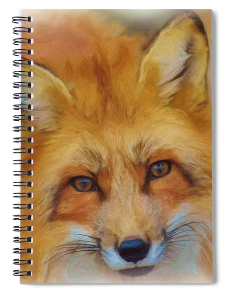 Fox Face Taken From Watercolour Painting Spiral Notebook