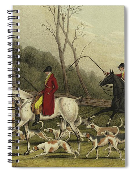 Fox Hunting Going Into Cover Spiral Notebook