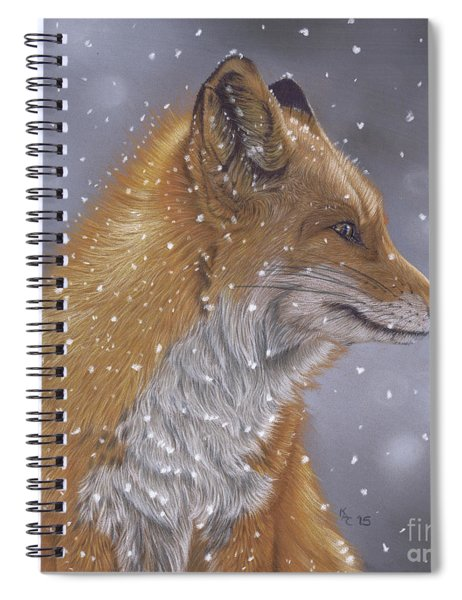 Fox In A Flurry Spiral Notebook