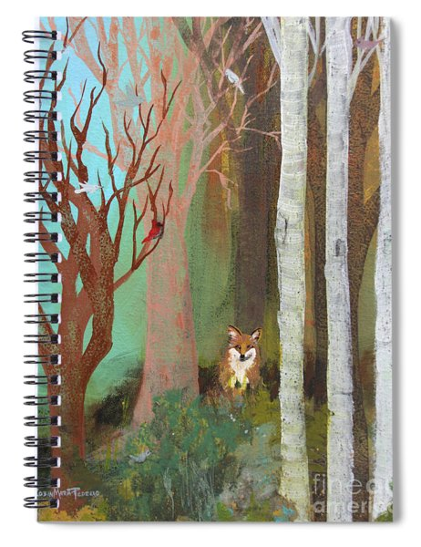 Fox In The Forest  Spiral Notebook