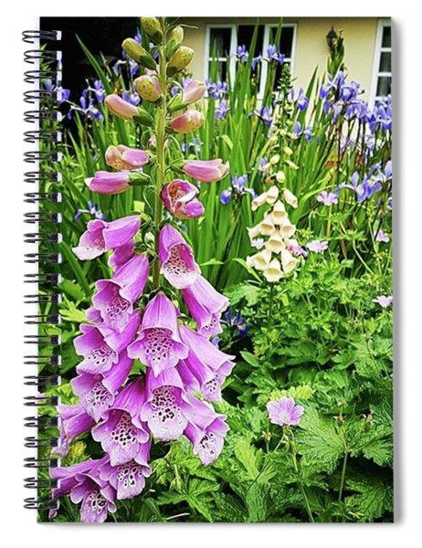Garden Foxgloves Spiral Notebook