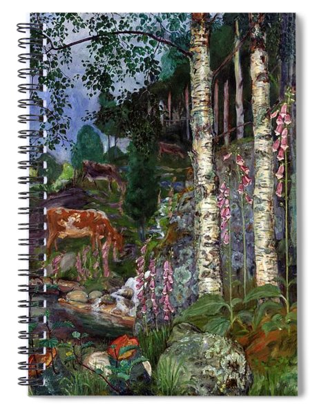 Foxgloves Spiral Notebook