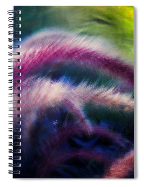 Foxtails In Shadows Spiral Notebook