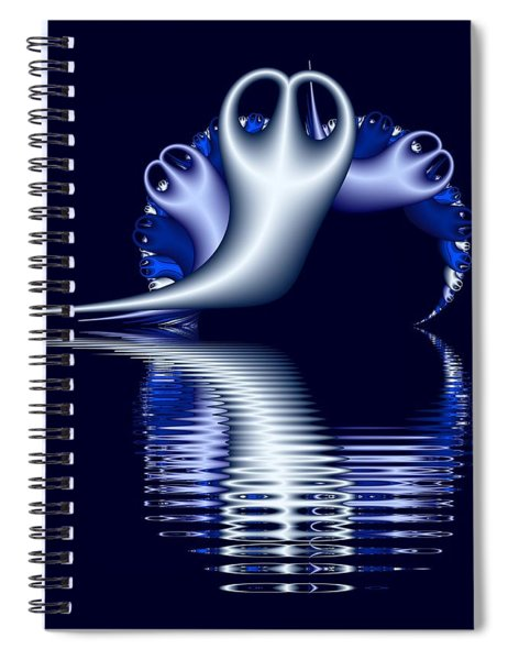 Fractal Peeble Ghosts Spiral Notebook