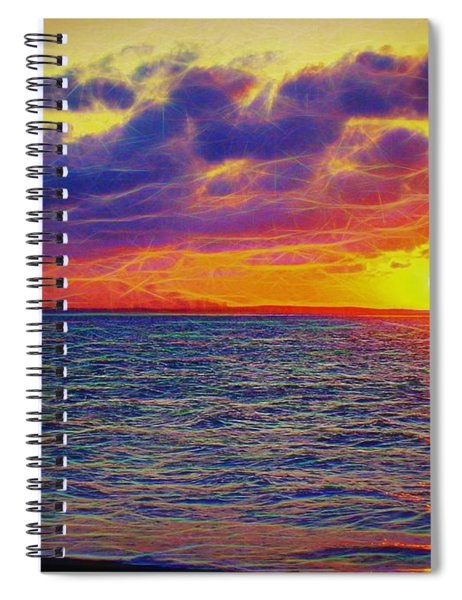 Spiral Notebook featuring the photograph Fractal Sunset by Patti Whitten
