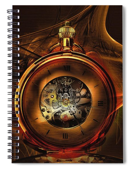 Fractal Time Spiral Notebook