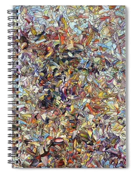 Fragmented Horse Spiral Notebook