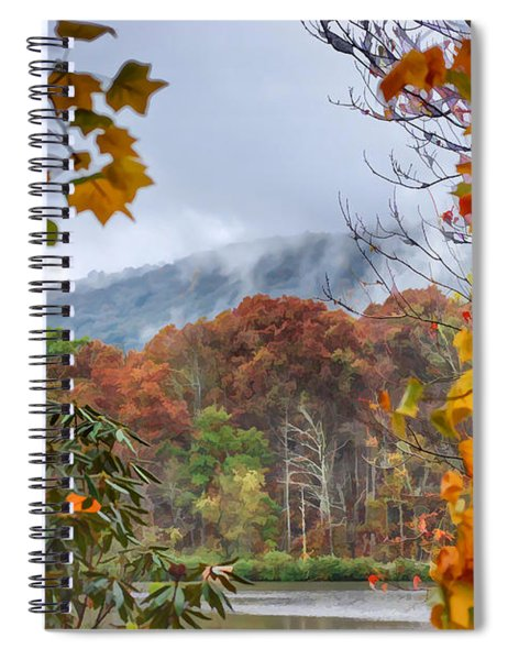 Framed By Fall Spiral Notebook