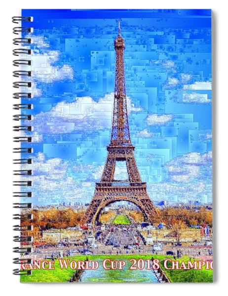France - Russia World Cup Champions 2018 Spiral Notebook by Rafael Salazar