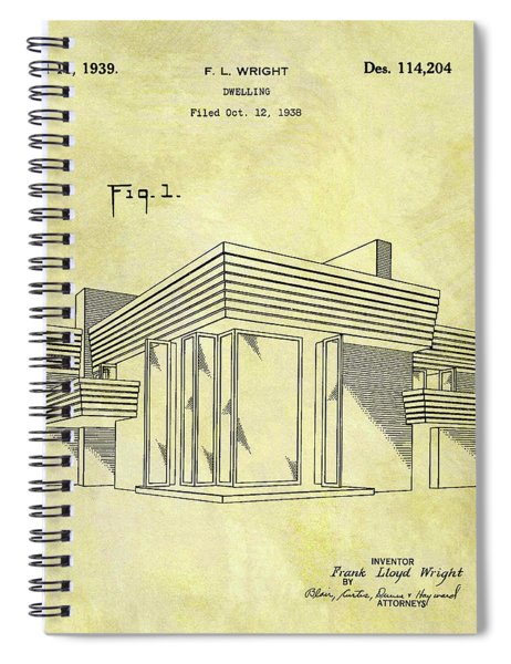 Frank Lloyd Wright House Patent Spiral Notebook