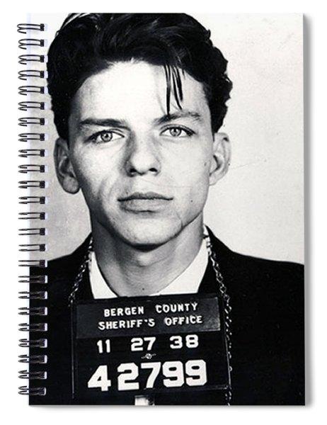 Frank Sinatra Mug Shot Vertical Spiral Notebook