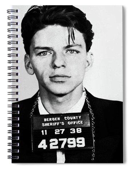 Frank Sinatra Mugshot Spiral Notebook