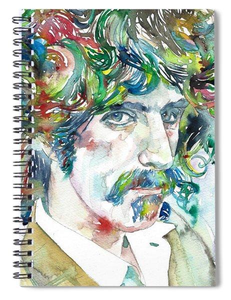 Frank Zappa Portrait Spiral Notebook