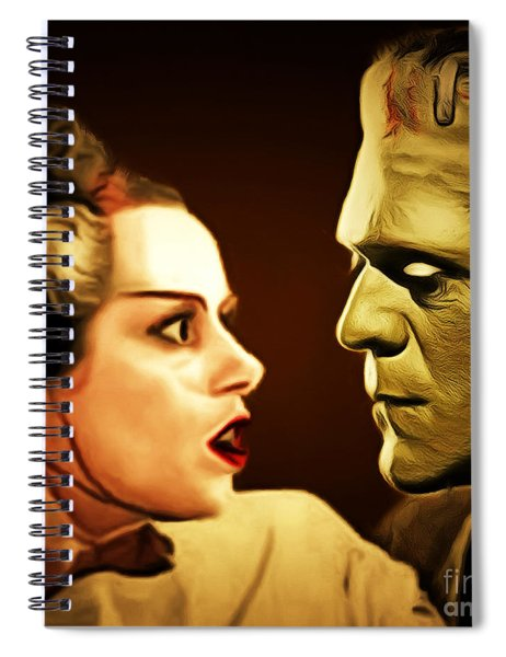 Frankenstein And The Bride I Have Love In Me The Likes Of Which You Can Scarcely Imagine 20170407 Sq Spiral Notebook