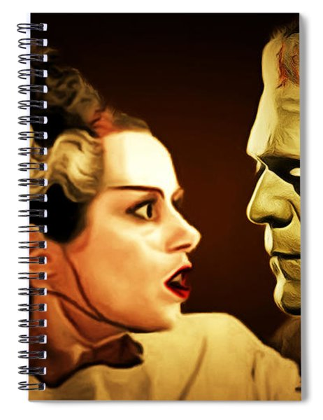 Frankenstein And The Bride I Have Love In Me The Likes Of Which You Can Scarcely Imagine 20170407 Spiral Notebook