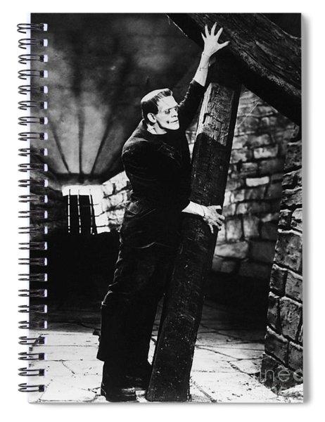 Frankenstein Boris Karloff Classic Film Image  Spiral Notebook