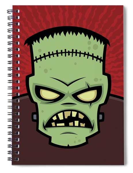 Frankenstein Monster Spiral Notebook by John Schwegel