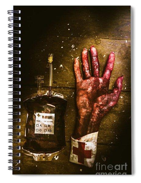 Frankenstein Transplant Experiment Spiral Notebook