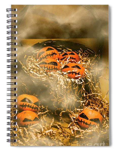 Freaky Halloween Fruits Spiral Notebook