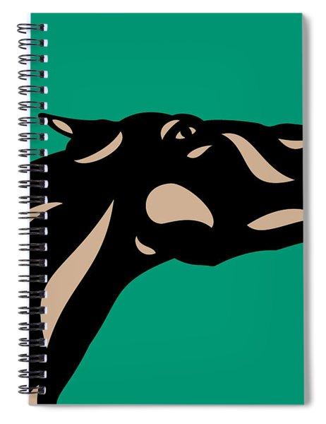 Spiral Notebook featuring the digital art Fred - Pop Art Horse - Black, Hazelnut, Emerald by Manuel Sueess