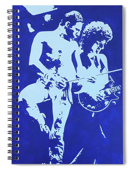 Freddie And Brian On Stage Spiral Notebook