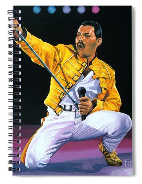 Freddie Mercury Live Spiral Notebook