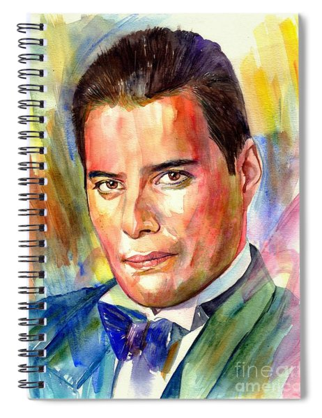 Freddie Mercury Painting Spiral Notebook