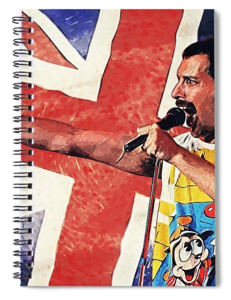Freddie Mercury Spiral Notebook