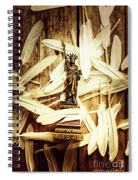 Freedom And Independence Spiral Notebook