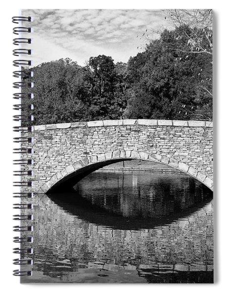 Freedom Park Bridge In Black And White Spiral Notebook