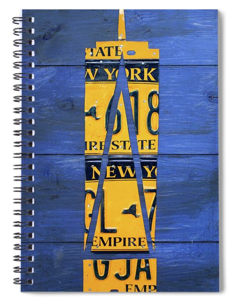 Freedom Tower World Trade Center New York City Skyscraper License Plate Art Spiral Notebook