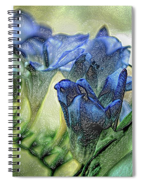 Freesia Carved In Blue Spiral Notebook