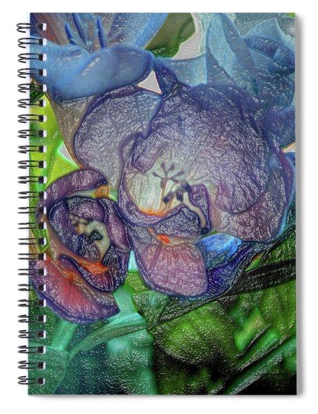 Freesia Multi Coloured Spiral Notebook