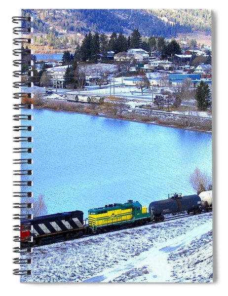 Freight Train At Oyama Spiral Notebook