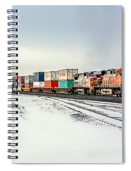Freight Train Spiral Notebook