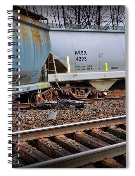 Freight Train Wreckage  Spiral Notebook