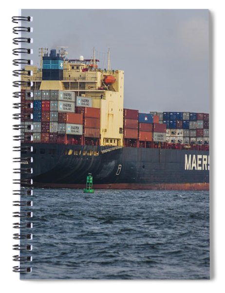 Freighter Headed Out To Sea Spiral Notebook