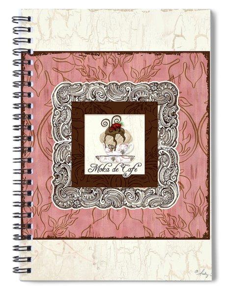 French Cafe Mocha - Moka De Cafe Spiral Notebook