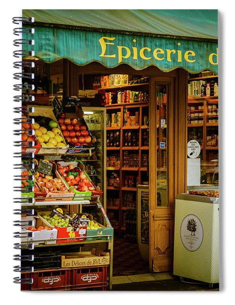 French Groceries Spiral Notebook