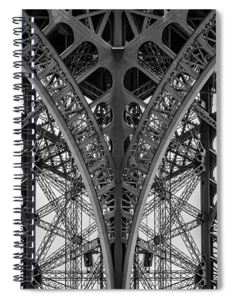French Symmetry Spiral Notebook