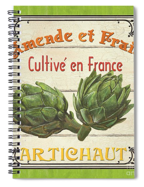 French Vegetable Sign 2 Spiral Notebook by Debbie DeWitt