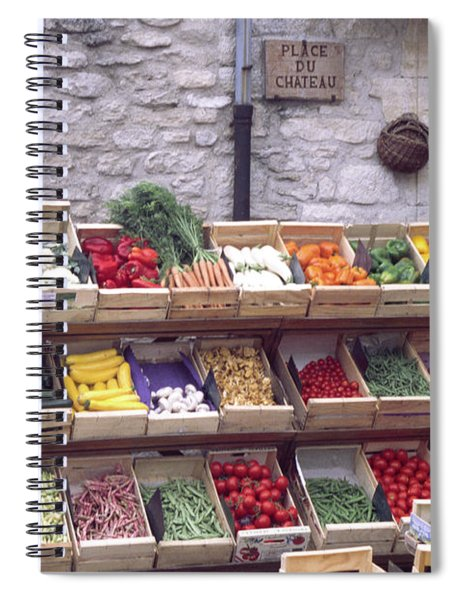 French Vegetable Stand Spiral Notebook