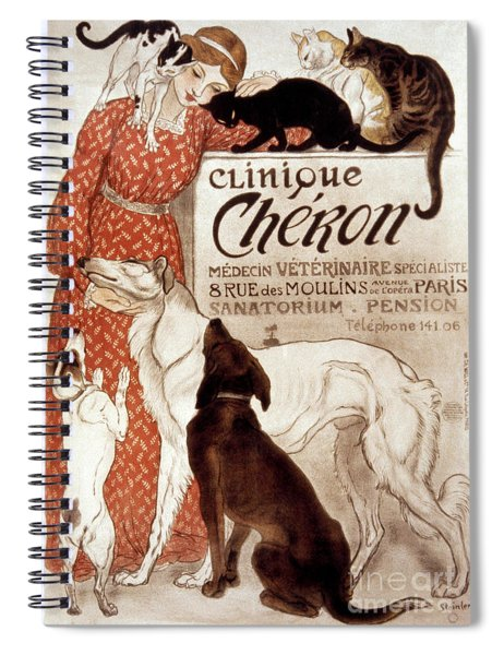 French Veterinary Clinic Spiral Notebook