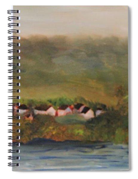 French Village Along The River Seine Spiral Notebook