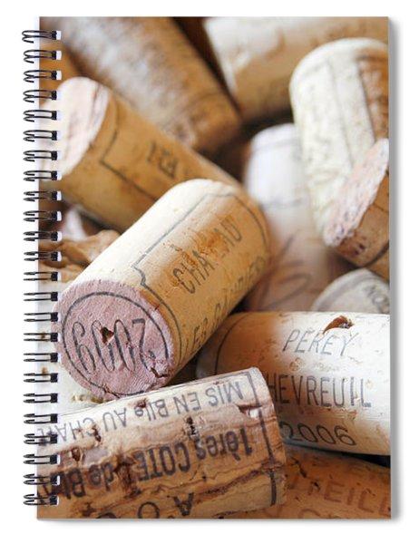 French Wine Corks Spiral Notebook