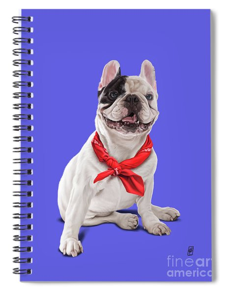 Frenchie Colour Spiral Notebook
