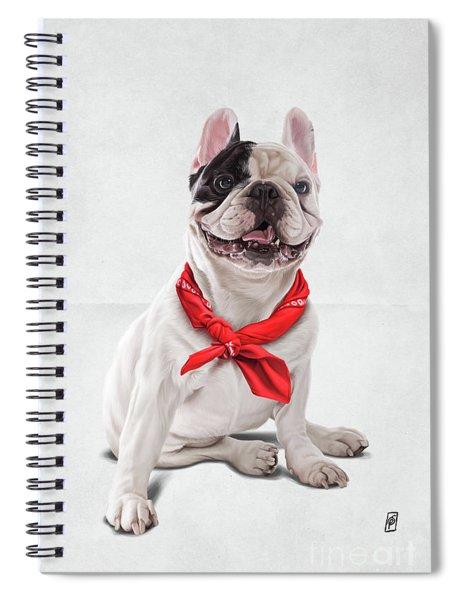 Frenchie Wordless Spiral Notebook